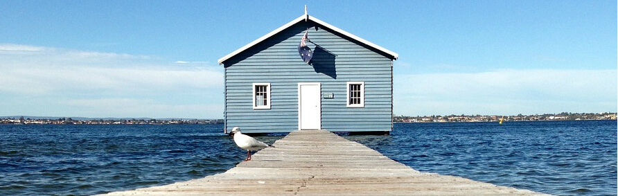 scenic boat shed in Perth